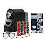 ChefWave Espresso Machine for Nespresso, Capsule Holder, Cups (Black) Bundle