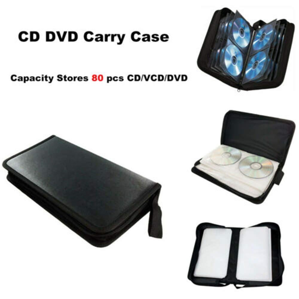 Turbobm Soporte para CD, Estuche para Transporte de Discos, Compartimento portátil para Almacenamiento de CD/DVD 80, Bolsa organizadora de Billetera para automóvil, hogar, Oficina y Viajes: Amazon.es: Hogar