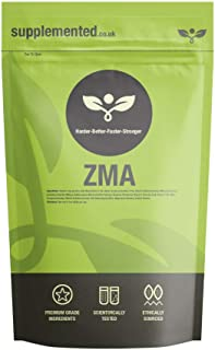 ZMA 180 Capsules Zinc, Magnesium, Vitamin B6, Sleep Aid, Recovery UK Made. Pharmaceutical Grade Supplement