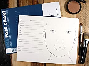The Face Chart - Face Chart Book - 30 Pages Thick Textured Paper - Makeup Artists MUA