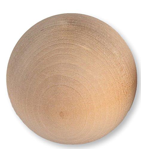 Bolas de madera natural para manualidades, 10a 75mm de diámetro, beige, 50 mm