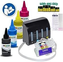 INKUTEN Sublimation Ciss Continuous Ink Supply System for WF 3620 WF 3640 WF 7610 WF 7620 WP 7110 WF 5620 WF 5690 WF 5190 252 4x100ml True Color Sublimation Ink (Sublimation Printing only)