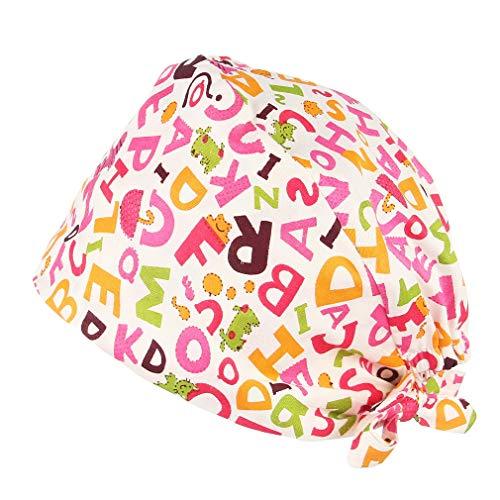 Algodón Gorros Quirofano Unisex Reutilizable Estampado Gorro Sombrero de Mujer