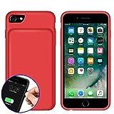 YFish iPhone 6 6s 7 8 Funda Batería, 4500mAh Batería Externa Recargable 2 en 1 Carcasa de móvil – 4.7 Pulgadas Rojo