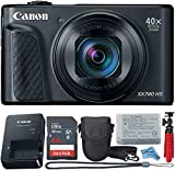 Canon Powershot SX740 (Black) Point & Shoot Digital Camera + Accessory Bundle + Inspire Digital Cloth