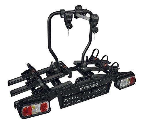 Alphard Plus Fietsendrager, afsluitbaar, fietsdrager voor 3 fietsen of 2 e-bikes met Quick-Lock-fietsdrager