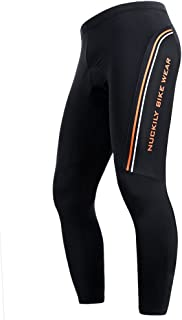 NUCKILY Men's Summer Breathable Sportwear Cycling Tights