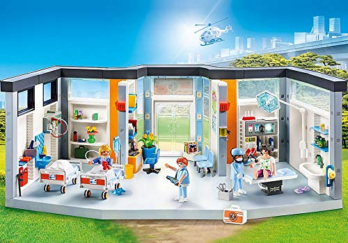 PLAYMOBIL City Life 70191 Planta de Hospital, con Efectos de Lux, A Partir de 4 Años