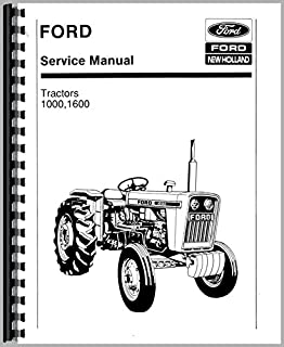 Service Manual Ford 1000 1600 Tractor