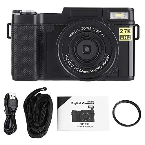 Pomya digitale camera, CD-R2 FHD 1080P 4x zoom digitale camera draagbare camera WiFi-camera 24-M sensor met automatische ISO 3.0-inch LCD met 180 ° rotatie serieopname tot 3.0 fps