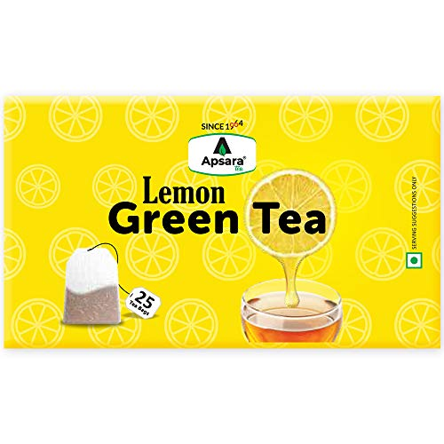 Apsara Lemon Green Tea Bags For Immunity Boosting And Weight Loss (25 Tea Bags)   Rich in Vitamin C