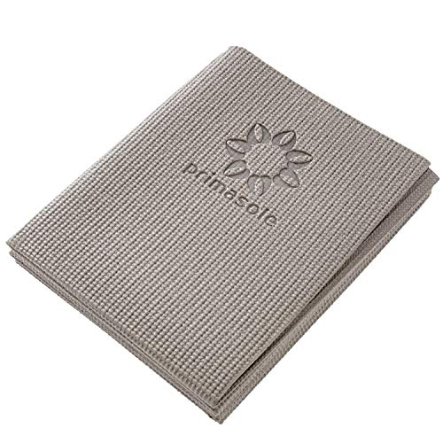 PRIMASOLE Folding Yoga Travel Pilates Mat. 1/4' Thick. Easy to Carry for Yoga, Pilates Fintess, Workout. Earth Brown Color Fitness Pilates (68' L×24' W×1/4 Inch Thick) PSS91NH025A