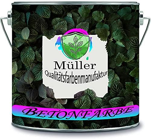 Müller Qualitätsfarbenmanufaktur Pintura de hormigón para garaje, revestimiento de suelo para interiores, suelo industrial, para sótano, resina epoxi (10 kg, gris beige Ral 7006)