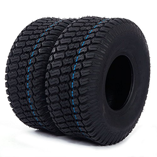 2PC 15x6.00-6 Turf Tires 4 Ply for Lawn and Garden Tractor Mover