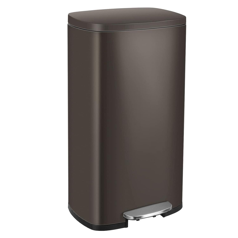 Kitchen Trash Can 激安特価品 8 誕生日/お祝い Gallon Stainless 30L Proof Ste Fingerprint