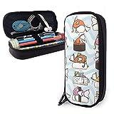 Sushi Magikarp - Estuche grande para lápices y bolígrafos para estudiantes, universidad, material escolar y oficina