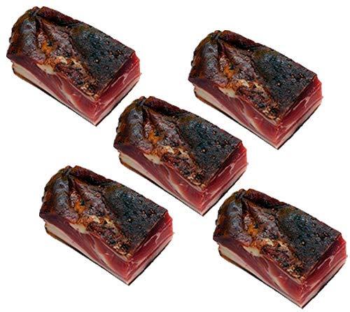 Moos Schwarzwälder Schinken am Stück - Original Rezept, Schweinehinterschinken von Hand geschnitten & gewürzt, 5 x 800g