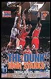 Vintage Starline- The Dunk: John Starks Dunks on Michael Jordan 16x20 Poster