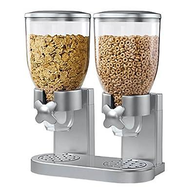 Zevro KCH-06124/GAT202 Indispensable Dry Food Dispenser, Dual Control, Silver by Zevro