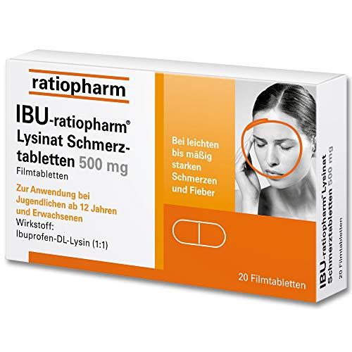 Ibu-Lysin-ratiopharm 293 mg Filmtabletten, 20 St. Tabletten