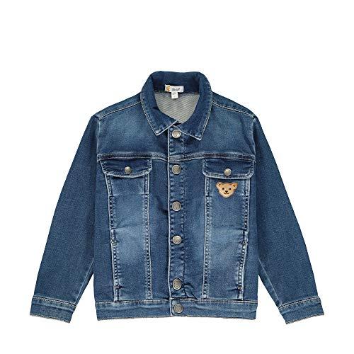 Steiff Jungen Jeansjacke Jacke, Blau (Ensign Blue 6051), 86 (Herstellergröße: 086)
