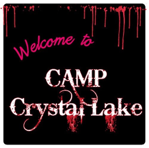 1art1 Vendredi 13 Poster-Sticker Autocollant - Welcome to Camp Crystal Lake (9 x 9 cm)
