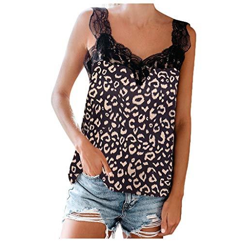 Shinehua dames luipaard tank tops spaghetti strap T-shirt top zomer camisoles mouwloos vest shirt blouse V-hals tanktop T-shirt drager-top