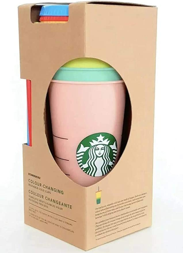 STARBUCKS 2020 HOLIDAY REUSABLE COLOR-CHANGE 16OZ HOT CUPS~SET OF 6 Candy Cane