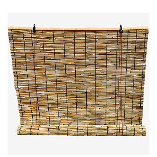 QWEASDF Persiana Estores Enrollable Bambú, Persiana Enrollable de caña Natural, protección contra el Agua Filtrado luz protección UV enrollar Las persianas, Tejido a Mano, sombreado,150x210cm/59x83in