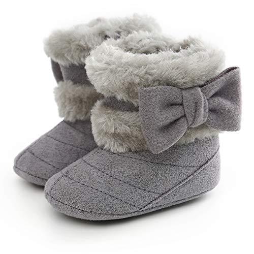 homese Baby Boots Soft Sole Anti-Slip Warm Winter Snow Boots Toddler Prewalker Boy Girls Bootie Brown 11cmBaby Bottie