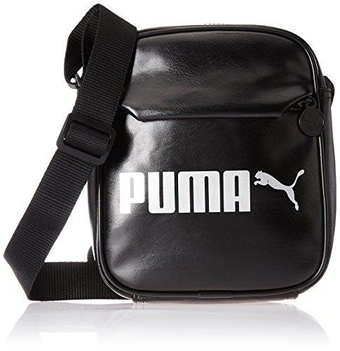 PUMA Erwachsene Tasche Campus Portable PU, Puma Black, OSFA, 75004