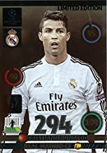 2014/2015 Panini Adrenalyn Champions League EXCLUSIVE Cristiano Ronaldo Limited Edition MINT! Rare Card Imported from Europe ! Shipped in Ultra Pro Snap Card Holder to Protect it!