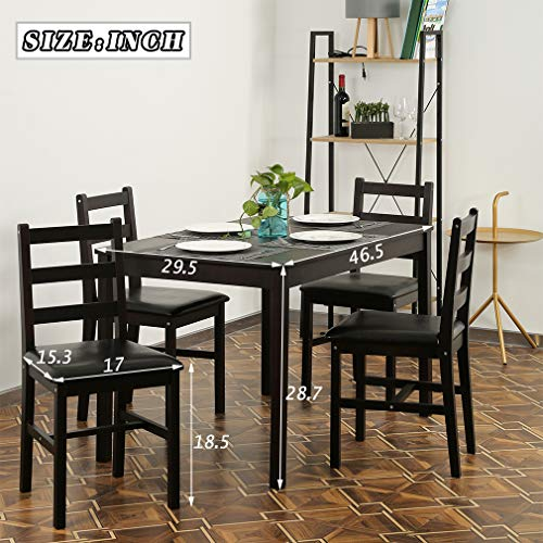 Dining Table Set Kitchen Dining Table Set Wood Table and Chairs Set Kitchen Table and Chairs for 4 Person