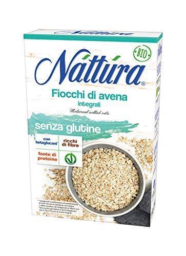 Nattura Fiocchi di Avena Integrali Senza Glutine Ricchi di Fibre Con Betaglucani Fonte di Proteine...