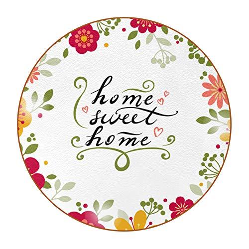 6 Stück DIY Tassen-Untersetzer mit anpassbarem Bild und Text für Hauseinweihungsgeschenke, Dekor, Hochzeitsregister, Raumdekorationen, Blumen Home Sweet Home