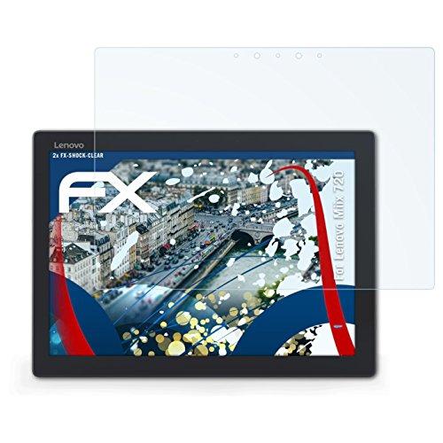 atFolix Schutzfolie kompatibel mit Lenovo Miix 720 Panzerfolie, ultraklare & stoßdämpfende FX Folie (2X)