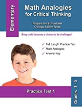 Math Analogies for Critical Thinking: Prepare for School and College Ability Tests (Practice Test) (Volume 1)