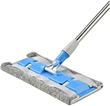 RYDQH Microfiber Hardwood Floor Mop with 360 Rotation Dust Flat Mop with Long Stainless Steel Handle for Home/Office Floor...