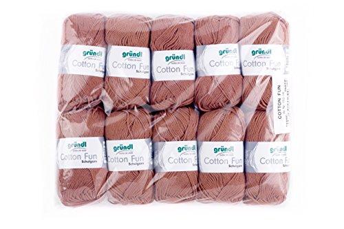 Gründl Cotton Fun Wolle, Baumwolle, Nougat, 27 x 11 x 7 cm