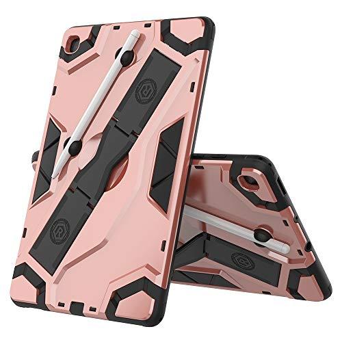 BZN para Samsung Galaxy Tab S6 Lite P610 / P615 Funda Protectora a Prueba de Golpes de la Serie P610 / P615 TPU + PC con Soporte (Negro) (Plata), etc. (Color : Rose Gold)