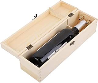 Kangsanli New Single Bottle Red Wine Box Wooden Wine Packing Box Carries Holder Gift Bar Accessories