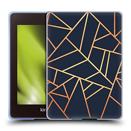 Head Case Designs Officiellt Licensierade Elisabeth Fredriksson Copper And Midnight Navy Stone Kollektion Mjuk Gel Fodral Kompatibelt med Kindle Paperwhite 4 (2019)