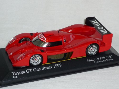 Minichamps Toyota GT One Street Rot Le Mans 1999 Car Fair 2005 Exclusive Kyosho 1/43 Modell Auto Modellauto