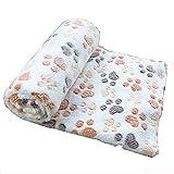 Cdet Alfombra Manta para Mascotas otoño e Invierno Manta cálida Terciopelo de Coral Grueso,Blanco,60 * 40cm