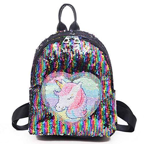 Constance vele soorten Eenhoorn Pailletten Rugzak Glitter Bling Schooltas Sparkly School Reizen Dag pack Schoudertas voor Meisjes Kids Tieners Vrouwen