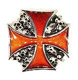 Gemelolandia Hebilla de Cinturón Cruz Celta y Calaveras 7,5cm | Complementos de Moda Unisex Para Hombres y Mujeres Exclusivos y Atemporales | Accesorios Para Regalos Originales
