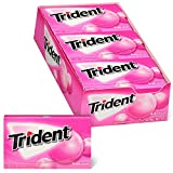Trident Bubblegum Sugar Free Gum, School Lunch Box Snacks, 12 Packs of 14 Pieces (168 Total Pieces)