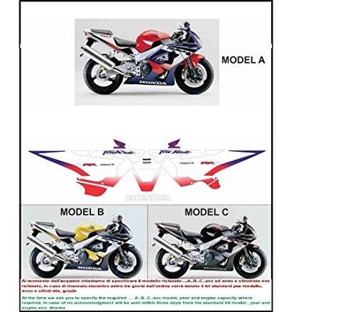 Kit adesivi decal stickers HONDA CBR 929 RR FIREBLADE 2000 (ability to customize the colors)
