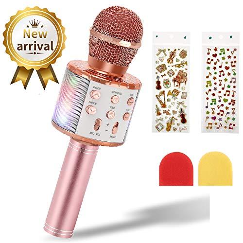Micrófono de Karaoke Inalámbrico para Niños, EXJOY Micró