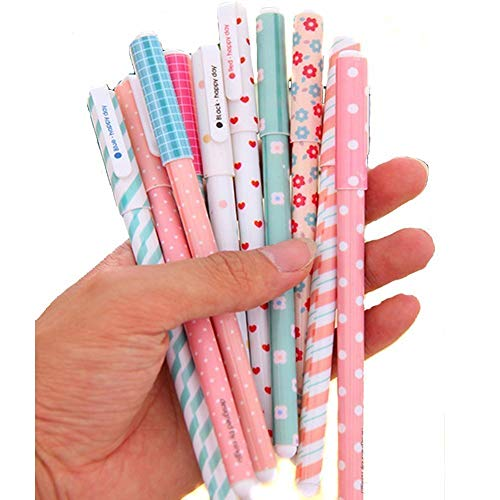 Yansanido Pack of 10 Cute Color Pens for Women Toshine Colorful Gel Ink Pens Multi Colored Pens for Bullet Journal Writing Roller Ball Fine Point Pens (10 Color-A)